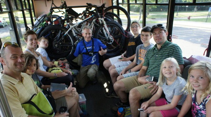CROCT leads an overnight youth group mountain bike trip at Cuyuna Lakes