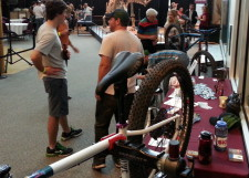Advocate Cycles' booth at MN Science Museum's Bike Night