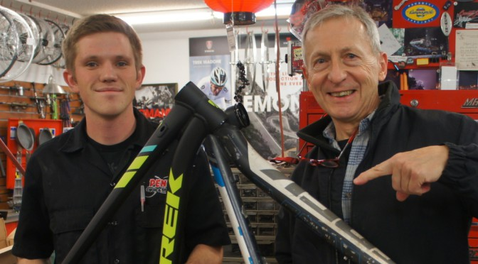 With help from Penn Cycle's Michael Weiss, Trek replaces my X-Caliber frame