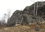 Foxx Rocks portion of the COGGS Piedmont mtb trail, Duluth