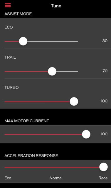 Specialized Turbo Levo FSR 6Fattie - smartphone app screenshot